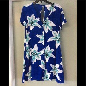 Ava Sky Dress Cairo Blue Tiger Lily